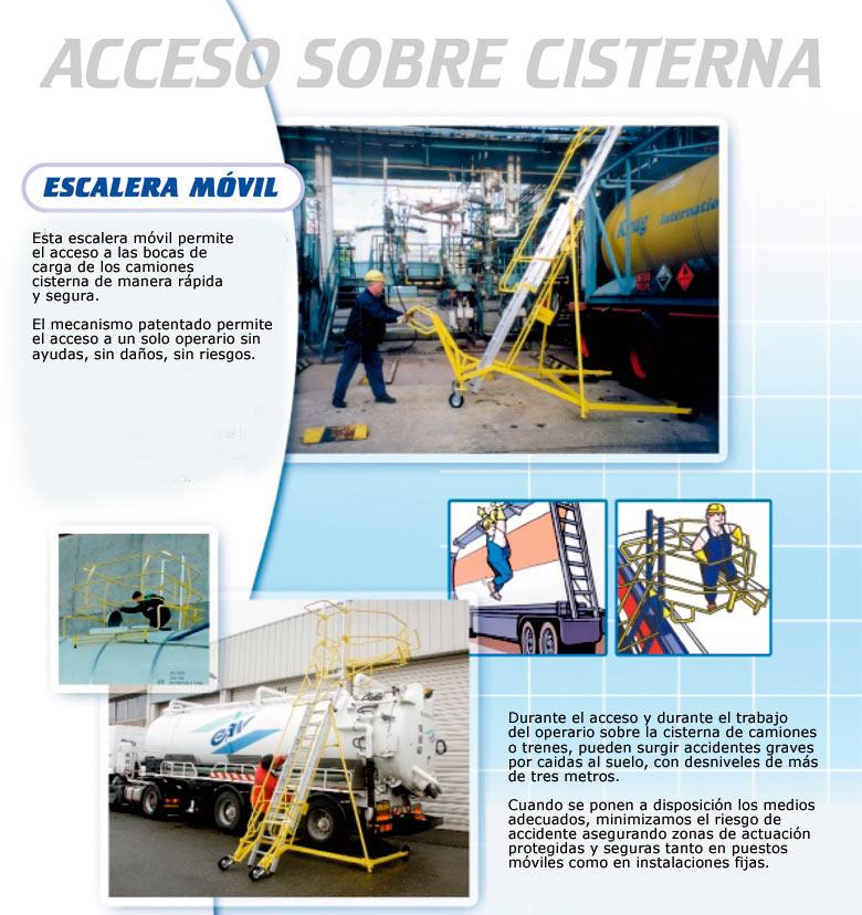 Escalera móvil de acceso a cisternas