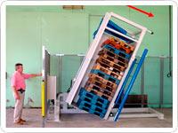 Clasificador de pilas para inspección de palets defectuosos